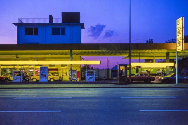 Freie Tankstelle, Bahnhofstraße. 1990er Jahre